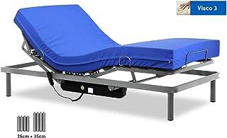 comprar comparacion Gerialife® Cama articulada con colchón Sanitario viscoelástico Impermeable (90x190)
