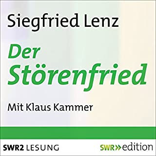 Der Störenfried                   Autor:                                                                                                                                 Siegfried Lenz                               Sprecher:                                                                                                                                 Klaus Kammer                      Spieldauer: 55 Min.     2 Bewertungen     Gesamt 4,5