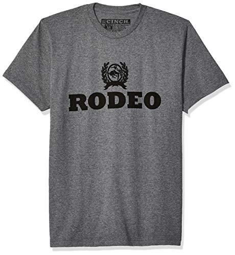 Cinch Men's Cotton-Poly Jersey T-Shirt, Heather Grey, L