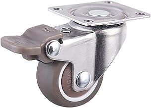 Zwenkwielen, Caster Wheels Set van 4 Casters 4 STUKS/Partij 1/1.25/1.5/2 inch Swivel Plate Pu Wielen wielen met rem, indus...