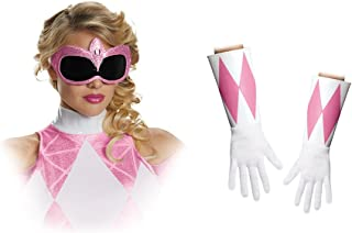Disguise Women's Pink Ranger Adult Costume Accessory Kit