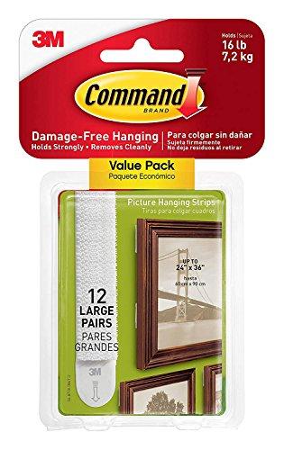 Command 17206 - Tiras Adhesivas para Colgar Cuadros (30 Pares)