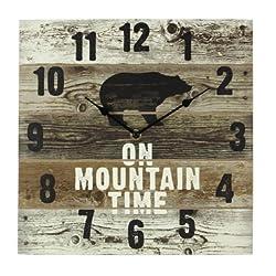 Heart of America Wood Bear Wall Clock