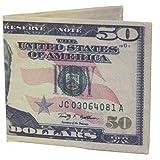 WIIビッグバックスノベルティ50ドル紙幣大プリント二つ折り財布