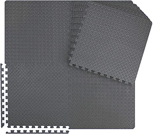 Meisterhome - 60x60x1cm - 15 Stuck - 5.4 m² - Anthrazit Schutzmatten Set Puzzlematte Bodenschutz Matte - Puzzle Bodenschutzmatten Unterlegmatte | Fitnessmatte Turnmatte Sportmatte Trainingsmatte