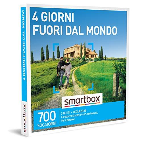 Smartbox - 4 Giorni Fuori Dal Mondo - Cofanetto Regalo Coppia, 3 Notti con Colazione per 2 Persone, Idee Regalo Originale