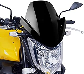 fum/é fonc/é Taille M Puig 5872 /F Pare-Brise pour Yamaha FZ8 /2010-2014