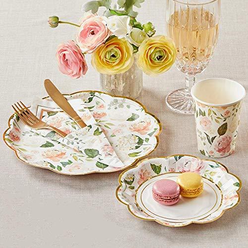 Kate Aspen 00223NA-KIT Blumen-Brunch-Set, 78 Stück, passende Einwegbecher, Teller und Servietten, Partygeschirr-Set, Einheitsgröße, mehrfarbig