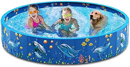 ZFAYFMA Piscina plegable para niños, piscina redonda para el verano sobre el suelo, para exteriores, jardín o patio pequeño, 80 x 20 cm