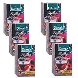 Té Dilmah de rosa mosqueta e hibisco X 6 piezas - 20 bolsitas de té - Infusión picante con acabado afrutado - Naturalmente libre de cafeína