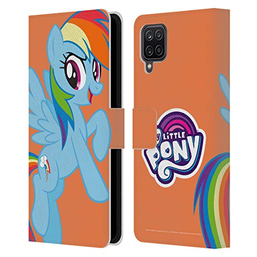 Head Case Designs Officially Licensed My Little Pony Rainbow Dash Solo Character Art Leather Book Wallet Case Cover Compatible with Samsung Galaxy A12 (2020)