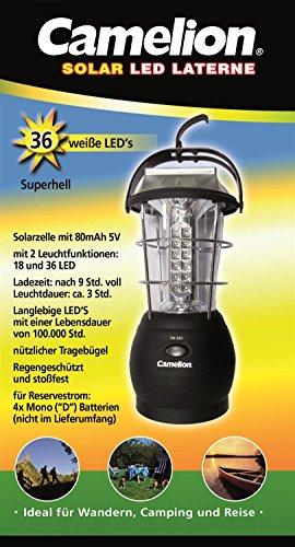Camelion - Linterna LED solar