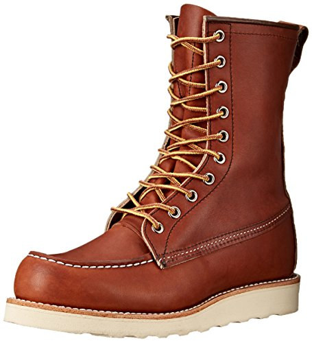 "Red Wing Heritage Men's 8"" Classic Moc Toe Boot, Oro Legacy, 9 M US"