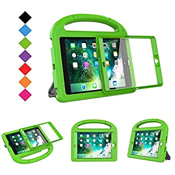 BMOUO Case for iPad Mini 1 2 3 - Built-in Screen Protector Shockproof Lightweight Hard Cover Handle Stand Kids Case for iPad Mini 1st 2nd 3rd Generation Green