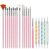Pinceles para Uñas Acrilicas Profesional Nail Art Cepillo Manicura de Pinceles para Diseño de...