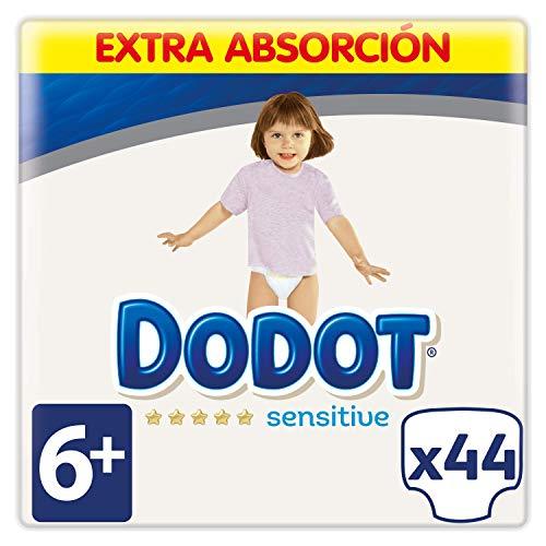 Dodot Sensitive Pañales Talla 6+ - 44 Pañales, 14 kg+
