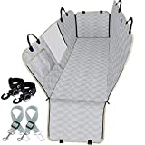 Lassie Dog Seat Covers for Cars Back Seat 100% Waterproof with Mesh Visual Window Durable Scratch Proof Nonslip Dog Car Hammock with Universal Size Dog Cover for Cars, Trucks & SUVs