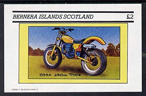 Bernera 1982 Motor Cycles (Ossa 250cc Trials) imperf dlx sht (£2 value) u/m TRANSPORT MOTORBIKES SPORT JandRStamps