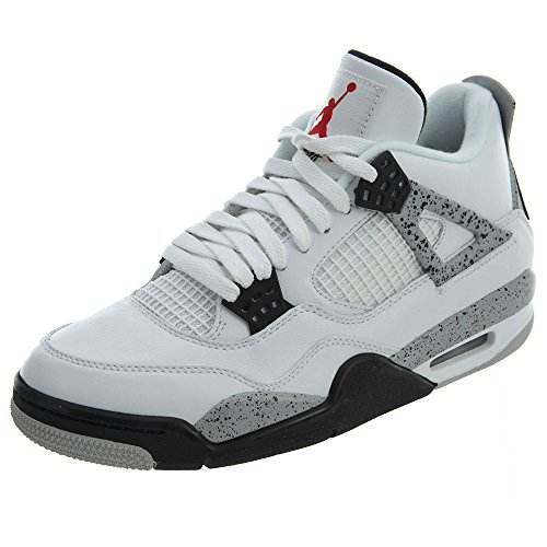 Nike Herren Air Jordan 4 Retro og Basketballschuhe, Blanco (Blanco (White/fire red-Black-tech Grey), 40.5 EU