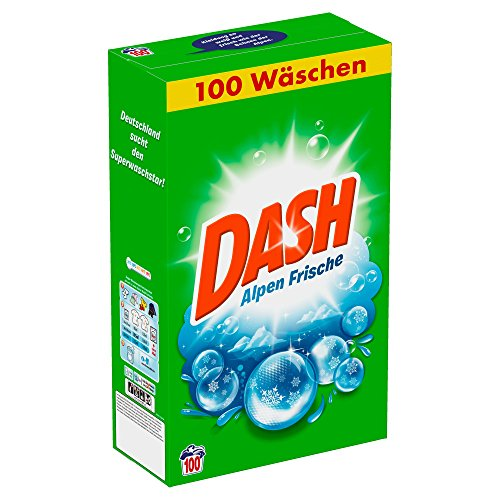 Dash Volwasmiddel poeder Alpen Fris, 6,5 kg - 100 wasbeurten, per stuk verpakt (1 x 6,5 kg)