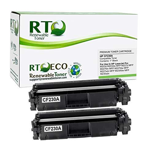 Renewable Toner Compatible Toner Cartridge Replacement for HP CF230A 30A Laserjet Pro M203, MFP M227 (Black, 2-Pack)