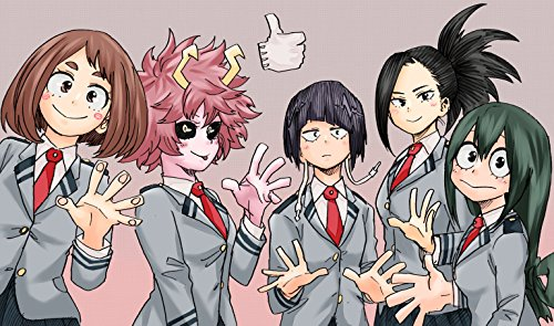 My Hero Academia Poster Print,Anime Wall Decoration,Girls Art Poster,Pink Hair Watercolor Print (S - 11'' x 17'')