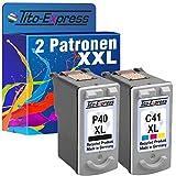 Tito-Express PlatinumSerie Farbset 2 Patronen für Canon PG-40 XL & CL-41 XL Pixma MX300 MP210 MP220 MP450 MP460 MX300 MX310