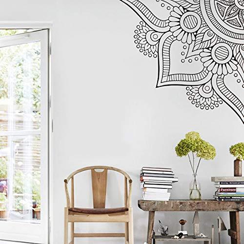 Mandala geometría sagrada Yoga etiqueta de la pared decoración del hogar sala de estar dormitorio sofá cabecera calcomanías Mural extraíble A7 57x57cm