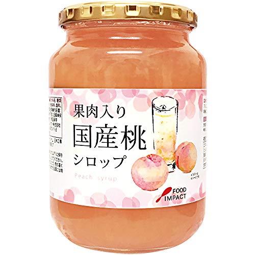 フードインパクト 果肉入り国産桃シロップ 960g