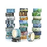 Washi Masking Tape Set of 24,Decorative Masking Tape...