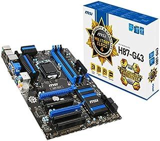 MSI H87-G43 ATX Motherboard (Intel H787, 4X DDR3, DVI, HDMI, 4X USB3.0, GBE LAN, LGA1150 Socket)