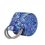 Sebasti Banda elástica de resistencia para yoga, color azul, 1 unidad, 1 unidad, 1 producto de venta, tamaño 183 x 3,8 cm, material: algodón