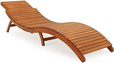 Relaxdays - Tumbona con parasol:Sillón de jardín de 37 x 70 ...