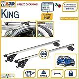 BARRE Portatutto K39 Portabagagli Portatutto Portapacchi Ford ECOSPORT con Railing CHIUSO