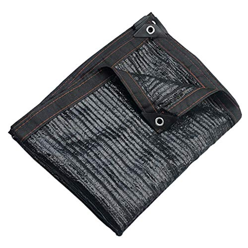 LDFZ Sonnenschutztuch,Schattennetz, schwarz UV-beständig, geeignet für Gewächshäuser, Gärten, Terrassen, Scheunen, Zwinger, Pergola oder Carports (6m × 8m)
