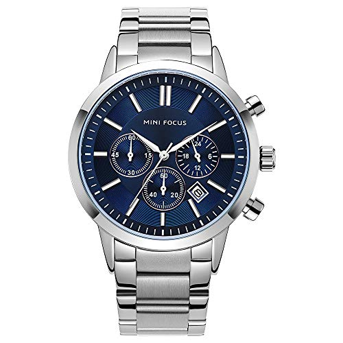 Best Price Mini Focus Business Style Calendar Stainless Steel Men Wrist Watch Quartz Watch Online