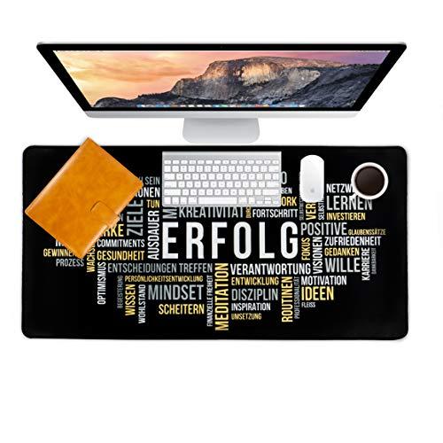 LIFEBOARD ® PREMIUM Schreibtischunterlage - 80 x 40 cm - verschiedene Motive für mehr Fokus & Motivation - Mauspad - Mousepad - by ENDLICH ERFOLG (ERFOLG)