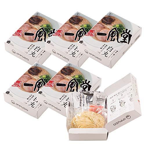 一風堂 白丸 箱 1食×6箱 有名店のラーメン セット