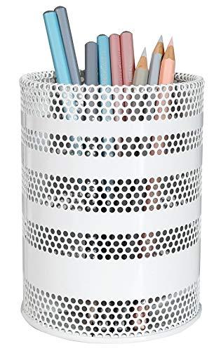 Produco ペン立て 鉛筆立て ペンスタンド 事務 オフィス 机上収納 用品ケース, ブラシスタンド (大) (ホワイト)