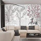 Tapeten, Tapeten-3d dreidimensionalen europäischen Stil Tapeten Wandbilder Wohnzimmer TV...