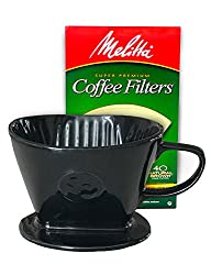 Coffee Pour Over Single Cup Ceramic Brewer