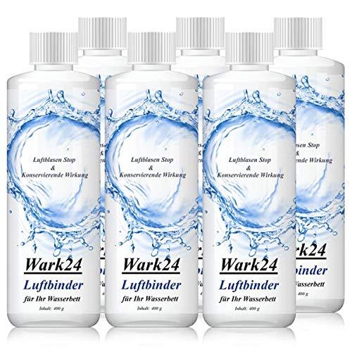 Wark24 Luftbinder Bubble Stop 400g - Luftblasen Stop für Wasserbettmatratzen - Konservierende Wirkung - Luftbindung in Wasserbetten (6er Pack)