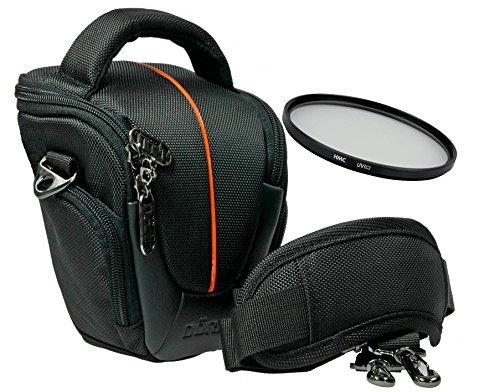 Yuma Foto Kamera Tasche Halfter XS + UV Filter 55mm für Sony Alpha 7 R II B mit Objektiv SEL 28-70mm KB
