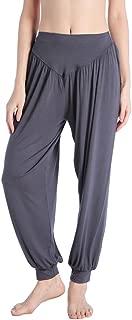 Harem Pants Soft Modal Yoga Pant Solid Color Sports Dance Pilates Elastic Waistband Fitness for Women