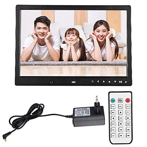 ASHATA Digitaler Bilderrahmen, LED-Display, 13 Zoll (13 Zoll), tragbar, Digitaler Bilderrahmen HD 1080p, tragbar, Digitaler Bilderrahmen für Musikplayer, unterstützt Speicherkarten bis 32