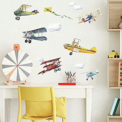 RoomMates Vintage Planes Peel and Stick Wall Decals - RMK1197SCS