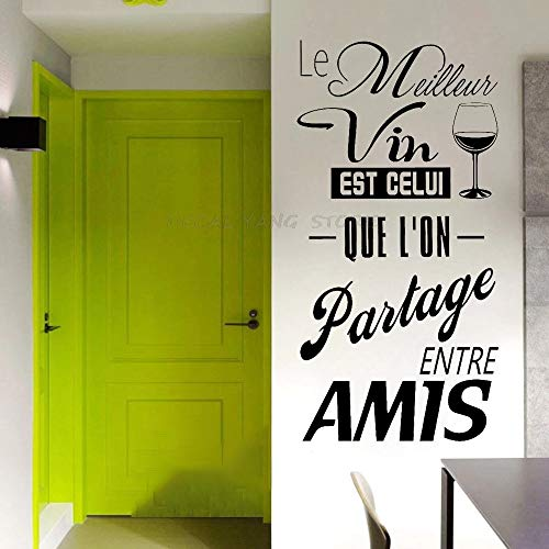 Pegatinas de cocina con frases de uva francesa para la decoración del hogar Las mejores uvas son las que compartimos con los amigos