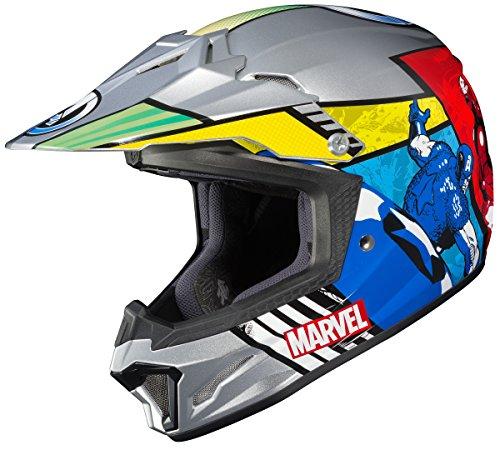 HJC Helmets Marvel Unisex-Child Off-Road Helmet (Multi-Color, Large) (CL-XY II Youth Avengers MC-21)