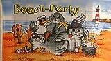FRIP - BEACH PARTY Fahne 1,50 x 0,90m Flagge Fahnen mit 2 Ösen Möwe Seehund Robbe