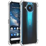 Osophter for Nokia 8.3 5G Case,Nokia 8V Case Clear Transparent Reinforced Corners TPU Shock-Absorption Flexible Cell Phone Cover for Nokia 8.3(Clear)
